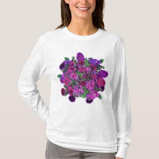 Girly Soft Lilac w Pretty Purple Flowers Tshirt 2