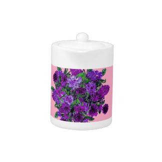 Girly Soft Pink w Pretty Purple Flowers Pitcher