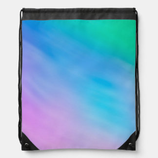 Girly Soft Rainbow Colored Sky Drawstring Backpack