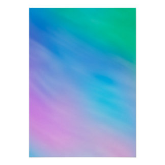 Girly Soft Rainbow Colored Sky Poster