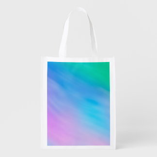 Girly Soft Rainbow Colored Sky Reusable Grocery Bags