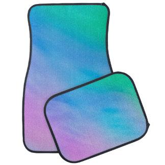 Girly Soft Rainbow Sky Car Floor Mat