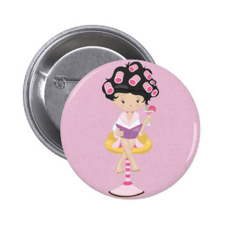 Girly Spa Girl Pinback Buttons