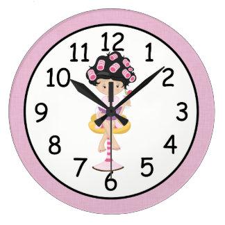Girly Spa Girl Clocks