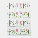Girly Spring Floral Kitchen Towel