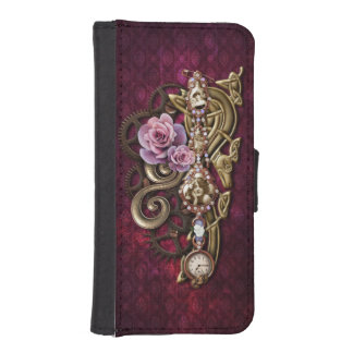 Girly Steampunk iPhone SE/5/5s Wallet Case