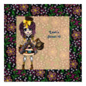 Girly Steampunk Lolita party PinkyP customizable Personalized Announcement