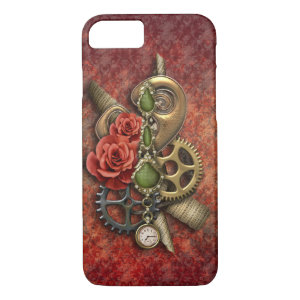Girly Steampunk with Vintage Jewels iPhone 7 Case