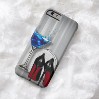 girly stilettos blue martini party girl modern barely there iPhone 6 case