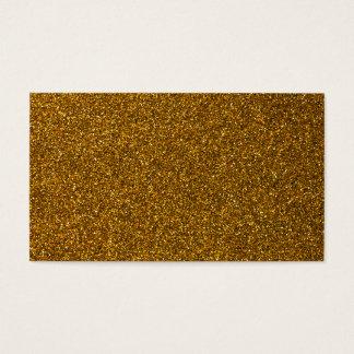 Girly Stylish Gold Glitter Photo Print Business Card