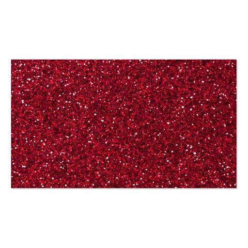 Girly Stylish Red Glitter Photo Print Business Card Templates