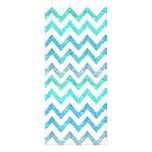 Girly Summer Sea Teal Turquoise Glitter Chevron Rack Card Template