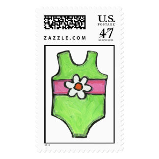 Girly Summer Swimsuit Stamp
