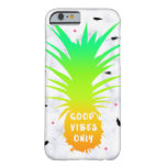 girly summer tropical pineapple white marble barely there iPhone 6 case