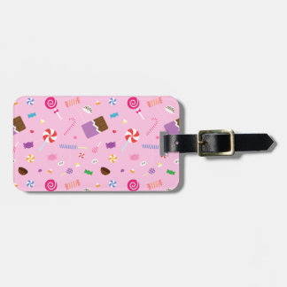 Girly Sweet Candy Pattern For Girls Bag Tag