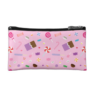 Girly Sweet Candy Pattern For Teen Girls Makeup Bag