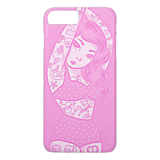 girly sweet cartoon bikini tatoo girl red iPhone 7 plus case