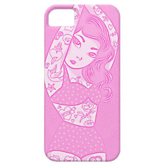 girly sweet cartoon bikini tatoo girl red iPhone SE/5/5s case