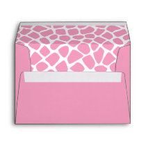 Girly Sweet Pink Giraffe Print Envelope