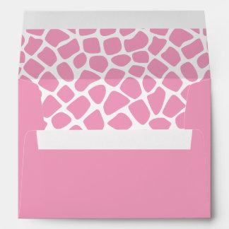 Girly Sweet Pink Giraffe Print Envelope