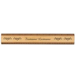 Girly swirls flourish elegant personalized name ruler
