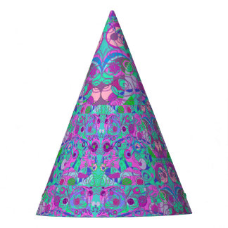 girly swirls party hat