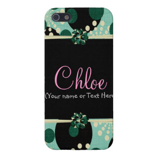 Girly Teal and Polka dots Case For iPhone SE/5/5s