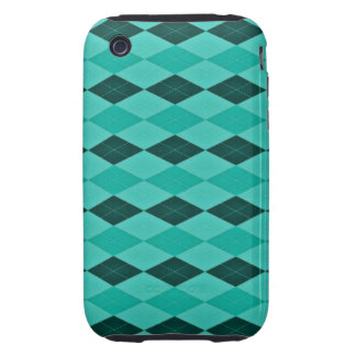 Girly Teal and Turquoise Fantasy Tough iPhone 3 Case