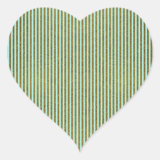 Girly Teal Gold Glitter Photo Print Heart Sticker