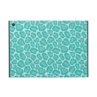 Girly Teal Leopard Pattern Case For iPad Mini