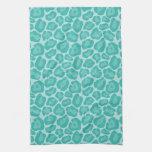 Girly Teal Leopard Pattern Kitchen Towel