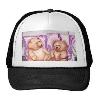 Girly Teddy Bear Talk Purple Lilac Grey Lavender Trucker Hat