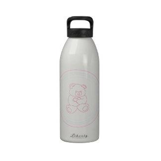 Girly Teddy Bear Drinking Bottle