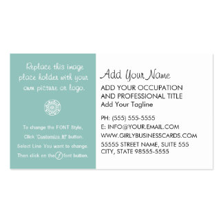 Girly Template Instructions Business Cards