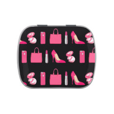Girly Things Candy Tin at Zazzle