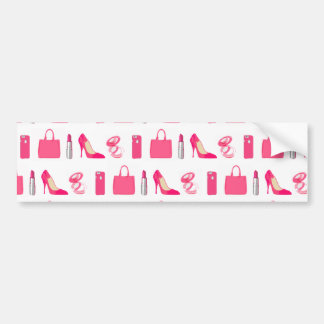 Girly things design bumper sticker