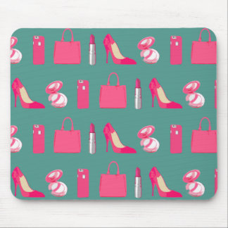 Girly things design mouse pad