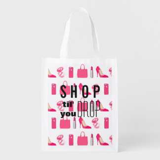 Girly things design shopping bag