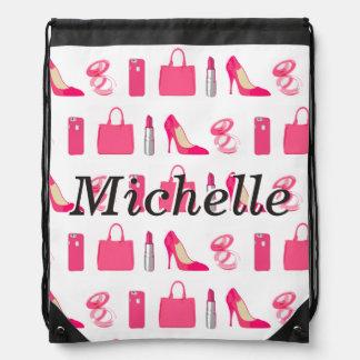 Girly things drawstring bag
