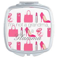 Girly Things Glamma Compact Mirror at Zazzle