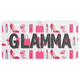 Girly things Glamma license plate