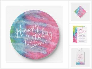 Girly Tie Dye Birthday Suite