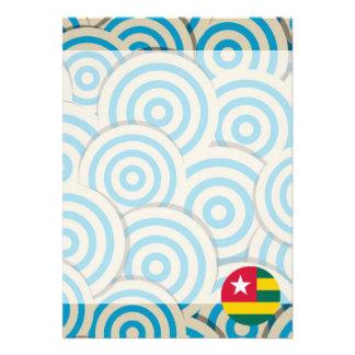 "Girly Togolese Flag Gift 5"" X 7"" Invitation Card"