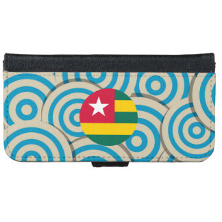 Girly Togolese Flag Gift iPhone 6 Wallet Case