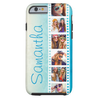 Girly Trendy Blue Grunge Tough iPhone 6 Case