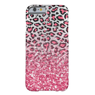 girly trendy bubble gum pink leopard animal print barely there iPhone 6 case