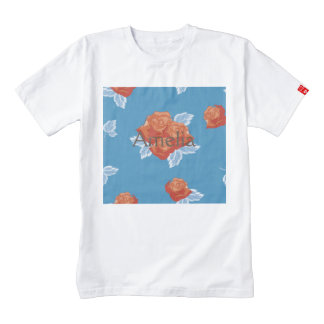 Girly,trendy,chic,country,blue,red,lace,floral,cut Zazzle HEART T-Shirt