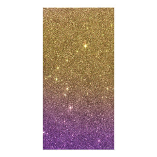 Girly Trendy Faux Gradient Glitter Card