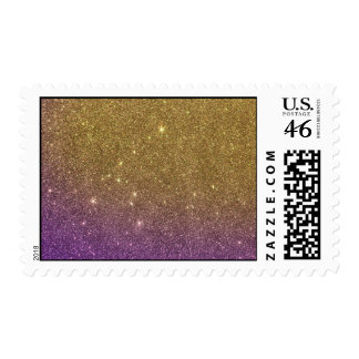 Girly Trendy Faux Gradient Glitter Postage