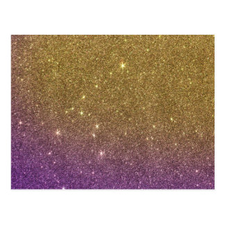 Girly Trendy Faux Gradient Glitter Postcard